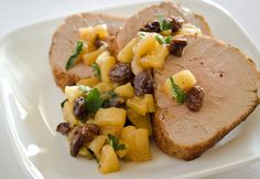 Pork Tenderloin with Apple-Raisin Compote