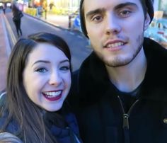 Zoe Sugg and Alfie Deyes