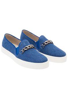 TAVI - Tênis slip on Tavi jeans - azul - OQVestir