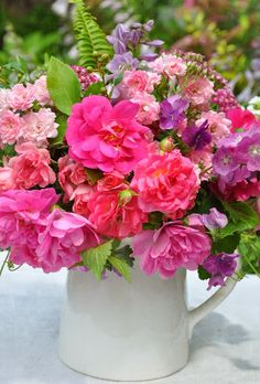 bouquet of roses and more from Three Dogs in a Garden blog...