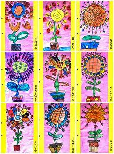 Plastic: FLOWERS using art dice wild flower instruction!