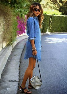 This denim shirtdress is so relaxed yet pulled together.