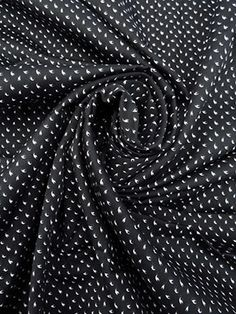 PRE-CUT 2 YARDS- Black/White 100% Cotton Swallow Polka Dot Print Sateen Shirting 61W Polka Dot Print, Polka Dots, Swallow, Yards, Short Sleeves, Black And White, Button, Sewing, Fabric