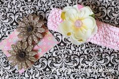 I love the look of the fabric flowers layered with the silk flowers.
