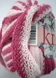 Wendy Knitit 2653 Spinnaker Light Pink and Dark Pink Ruffle Yarn Wool & Acrylic (Discontinued) Clearance Yarn, Ruffle Yarn, Yarns, Wool, Detail, Pink, Pink Hair, Roses