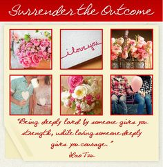 Valentine's Day, Love, Couples in Love, Pink Roses, Surrender the Outcome, Lao Tzu Quotes