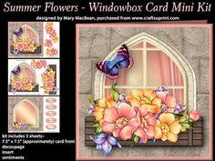 Summer Flowers Windowbox Card Mini Kit on Craftsuprint - View Now!
