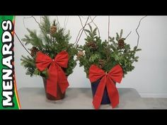 Making a Live Holiday Planter - YouTube