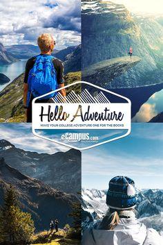http://virl.io/kTZGuQdy  Enter the eCampus.com #HelloAdventure Contest to win a $1,000 Visa Card or 1 of 4 $125 Visa Cards!