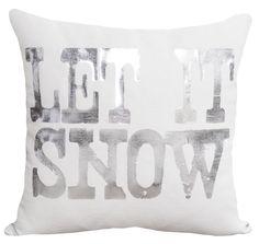 Let it Snow Cotton Throw Pillow