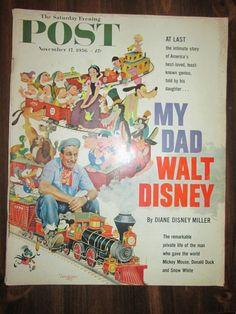 Saturday Evening Post November 17, 1956 My Dad, Walt Disney