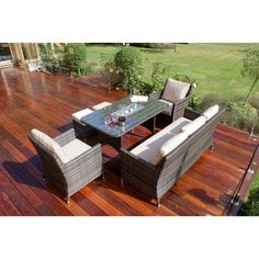 Sofa Dining Set,This is completely no hassle maintenance free furniture which can be left outdoors throughout the year Rattan Outdoor Furniture, Garden Furniture, Outdoor Decor, Rectangle Table, Armchairs, Dining Set, Seat Cushions, Stool, Powder