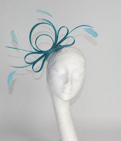 Turquoise Wedding Fascinator hat