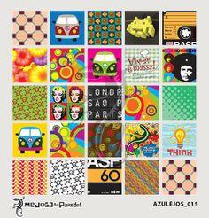 Azulejos Adesivos Decora nº 015 www.mejoganaparede.com.br
