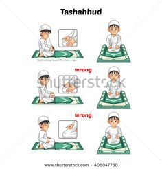Muslim Prayer Position Guide Step by Step Perform by Boy Sitting and Raising The Index Finger with Wrong Position Vector Illustration Tired Cartoon, Character Flat Design, Salat Prayer, Prayer Photos, Prayer Position, Arabic Lessons, Islam For Kids, Muslim Family, Superhero Kids