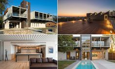 Inside the contemporary Dallas home made from 14 shipping containers