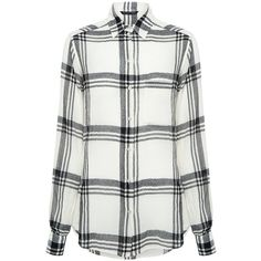 Marissa Webb - Wesley Plaid Blouse ($138) ❤ liked on Polyvore featuring tops, blouses, shirts, tartan blouse, white blouse, relaxed fit tops, button down top and tartan top