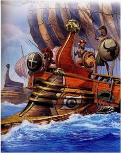 Trireme Hoplite Warriors 5th Century BCE.