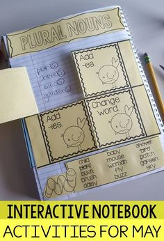 Interactive notebook activities for may- ela and math activities templates