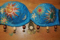 unusual celestial festive hippie bra by FullMoonGypsy on Etsy
