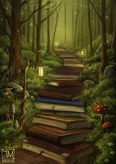~o~ The Reader's Path ~o~ Prints of this picture are available here: www.redbubble.com/de/people/mo… I wanted to paint this a few days ago. I already had the sketch, but for some reason...