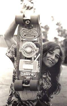 A skateboarder at Venice Beach, California, 1975.