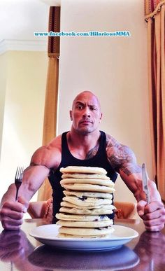 "I'm a huge fan of Dwayne ""The Rock"" Johnson. Everyone, and I mean EVERYONE at Power Athlete HQ loves The Rock (especially Cali). The Rock Dwayne Johnson, Rock Johnson, Dwayne The Rock, Segura Essa Marimba, Wrestling Stars, Pancake Day, Cheat Day, Man Candy, Stevia"