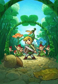 The Legend of Zelda: The Minish Cap | Toon Link, Ezlo, and the Minish/Picori