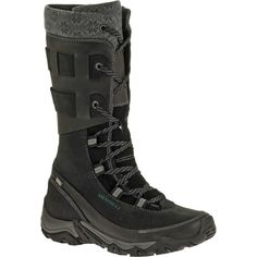 Those are some seriously sexy boots! - Black Polarand Rove Peak Leather Boot by Merrell Sexy Boots, Black Boots, Boots Beauty, Insulated Boots, Waterproof Winter Boots, Snow Boots Women, Dream Shoes, Fashion Boots, Leather Boots