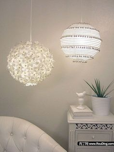 DIY Cute Ideas to Change the Ball Light Shade