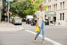 The NYFW Street Style Looks That Truly Stunned #refinery29  http://www.refinery29.com/2014/09/73987/new-york-fashion-week-2014-street-style-photos#slide-93  Bright, white pumps are still having a moment....