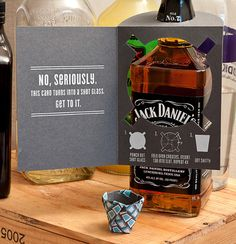 The Birthday Card that Turns into a Shot Glass | Man Made DIY | Crafts for Men | Keywords: birthday, card, shot, spirits