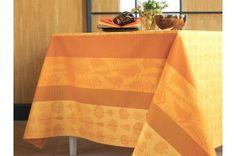 Mille Fiori Feuillage French Tablecloth by Garnier-Thiebaut