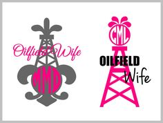 Oilfield Wife Monogram Decal Sticker by VinylGifts on Etsy