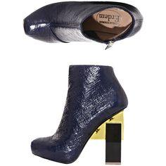 Nicholas Kirkwood For Erdem Geometric heel ankle boots ($889) ❤ liked on Polyvore