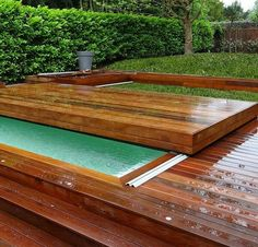 Discover our Retractable Pool Terraces by Octavia, french manufacturer. Pools For Small Yards, Small Backyard Pools, Swimming Pools Backyard, Garden Pool, Mini Swimming Pool, Swimming Pool Images, Small Pool Design, Cool Pools, Pool Houses
