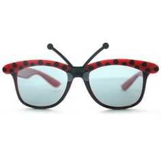 ladybug party glasses,fun party glasses,ladybird party glasses,cute