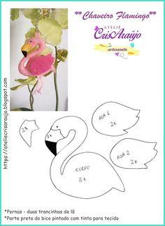 flamingo mold on felt Crochet Crown Pattern, Free Pattern, Flamingo Craft, Flamingo Nursery, Flamingo Ornament, Crochet Baby Mobiles, Felt Crafts Patterns, Sewing Stuffed Animals, Felt Birds