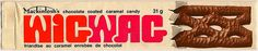 My favorite...WigWag Candy Bar wrapper 1970s by joad_henry, via Flickr....but where we lived, it was exactly the same looking candy bar, caramel and all...only in long orange wrapper..called a marathon bar
