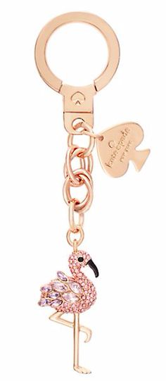 Your keys should have something pretty too! Kate Spade flamingo key chain