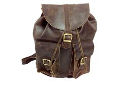 """Road Trip"" Backpack Shoulder Bag by True Grit Leather, $115.00"
