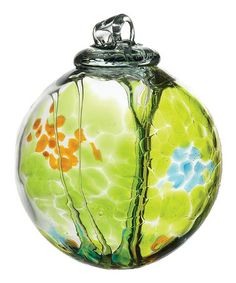 Take a look at this Lime Kitras Spirit Ball by Kitras Art Glass on #zulily today!