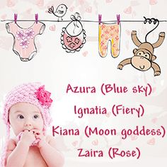 Unique baby girl names. I love Kiana!
