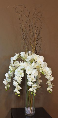 Wedding Flower Arrangements Large Phalaenopsis Orchid Artificial Flower White silk - Artificial Flower High end silk flower available in Blue and purple
