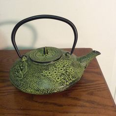 Cast Iron Teapot With Strainer by MaxBuddyVintage on Etsy