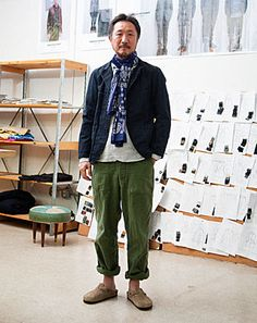 To know more about Daiki Suzuki styling, visit Sumally, a social network that gathers together all the wanted things in the world! Featuring over 3 other Daiki Suzuki items too! Mature Mens Fashion, Looks Style, My Style, The Last Summer, Look Street Style, Engineered Garments, Mode Vintage, My Guy, Japanese Fashion
