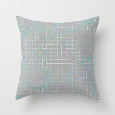Re-Created SquaresXXX   #Throw #Pillow by #Robert #S. #Lee - $20.00