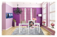 """""""Work hard shop hard 💜 dream office"""" by lulalalala ❤ liked on Polyvore featuring interior, interiors, interior design, home, home decor, interior decorating and Home Essentials"""
