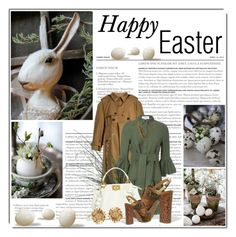 """""""Happy Easter Polyvore Friends"""" by queenrachietemplateaddict ❤ liked on Polyvore featuring Balenciaga, 10 Crosby Derek Lam, Fendi, Chanel, Ash, Asprey, Easter, GREEN and brown"""