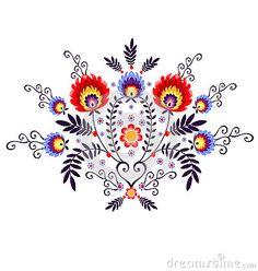 Polish Folk Inspiration - traditional pattern ebroidery